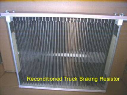 Off-highway truck braking resistor reconditioned by ATS